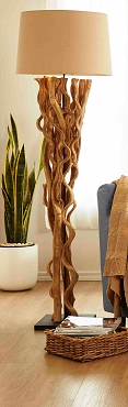 Sculpted Natural Vine Floor Lamp