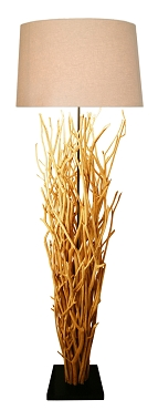 Natural Birch Branch Floor Lamp