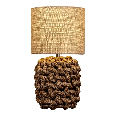 Small Weaved Rope Table Lamp