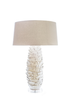 Layered White Ceramic Lamp