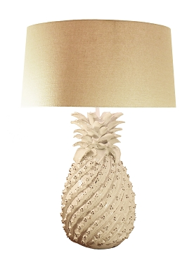 White Ceramic Pineapple Lamp