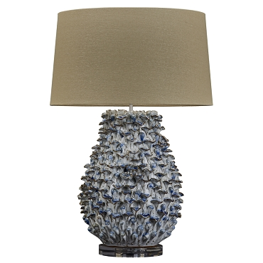 Blue and White Ceramic Coral Lamp