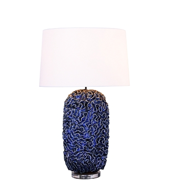 Blue Similan Ceramic Lamp