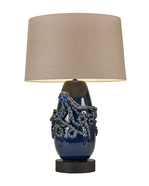 Ocean Blue Octopus Ceramic Lamp