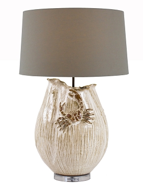 White Ceramic Crab Lamp