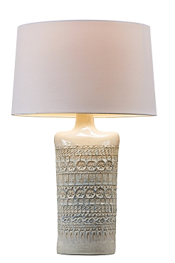White Manza Ceramic Lamp