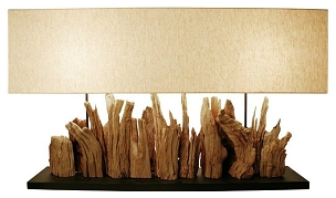 Grande Vertico Riverine Driftwood Table Lamp