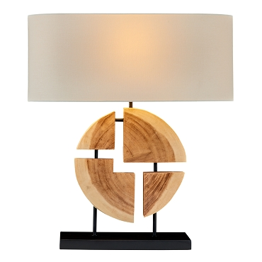 Natural Geometric Acacia Lamp