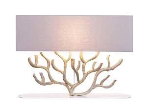 Large Coral Shaped Vine Wood Table Lamp