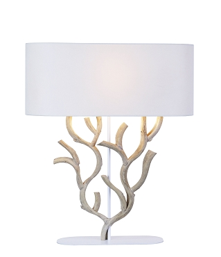 Coral Shaped Vine Wood Table Lamp