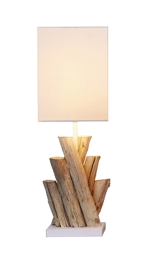 Crossed Bleached Branches Table Lamp