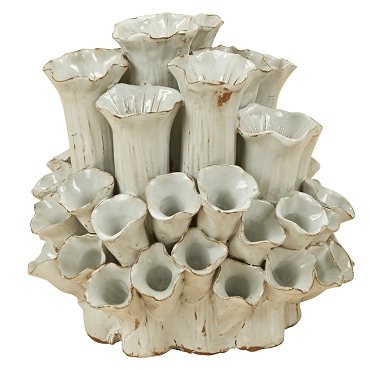 Ceramic White Coral Flower Vase