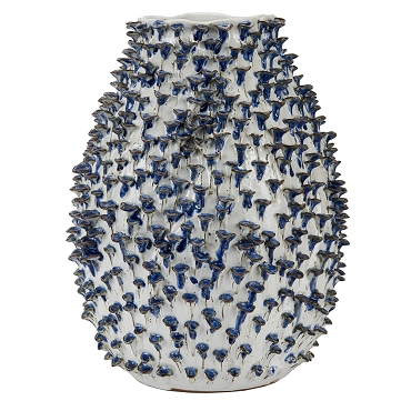 Large Blue and White Coral Vase
