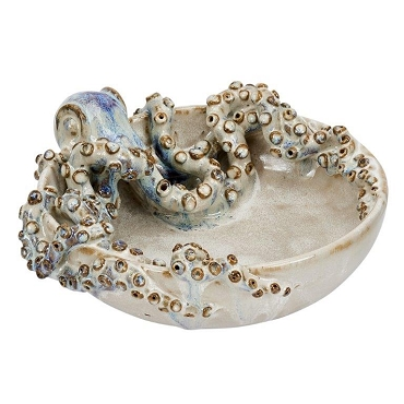 Cream Ceramic Octopus Bowl