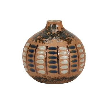 Medium Earth Tone Ceramic Vase
